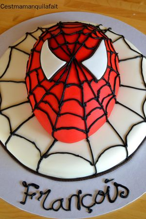 gateau spiderman facile a faire (1)
