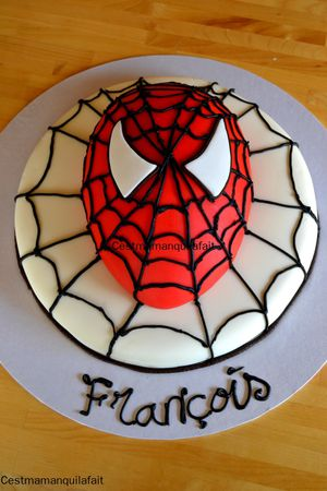 gateau spiderman facile a faire (2)