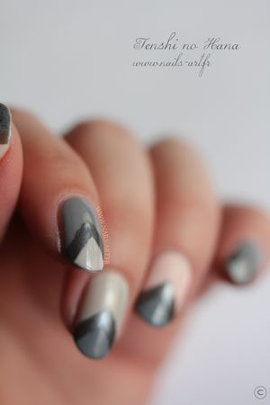 The New Black Heathered nail art 6