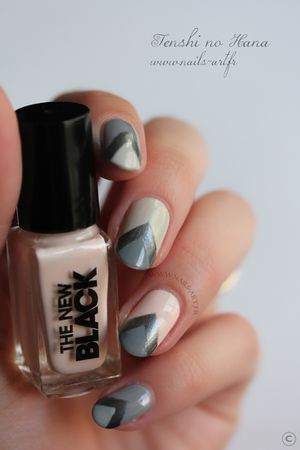 The New Black Heathered nail art 7