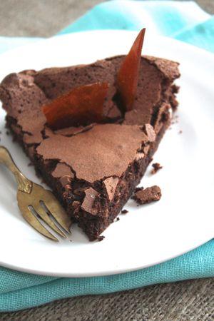 gateau au chocolat sans gluten, recette facile et rapide