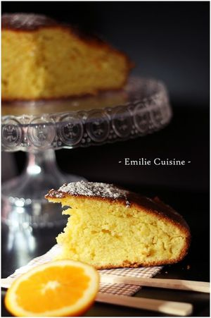 Gateau orange Emilie Cuisine