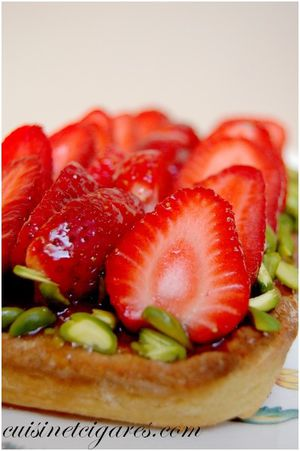 Tarte aux Fraises et Pistaches 2