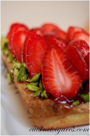 Tarte aux Fraises et Pistaches 3