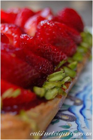 Tarte aux Fraises et Pistaches 4