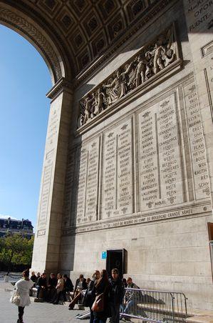 Paris arc de triomphe de l'Etoile (9)