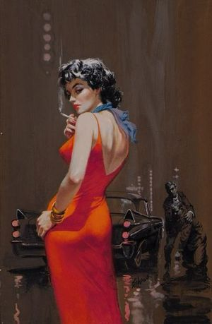 Harry Schaare, cover painting for Dell A Gem of a Murder