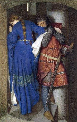 -Frederic William Burton's 'The Meeting on the Turret Stair