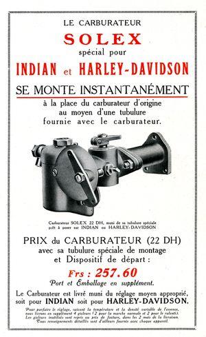 Carbu Solex spécial Indi372