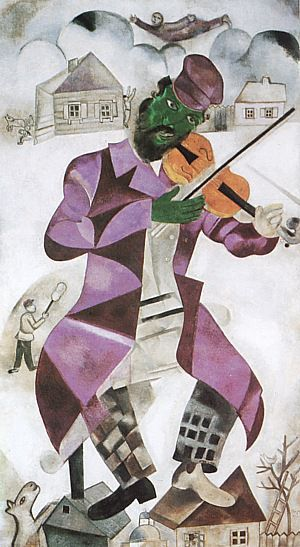 Chagall-66 The Green Violinist, 1923~24