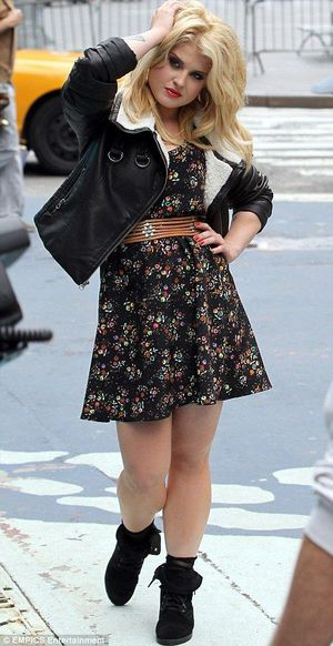 Kelly Osbourne's Material Girl photoshoot was in Times Square, NY