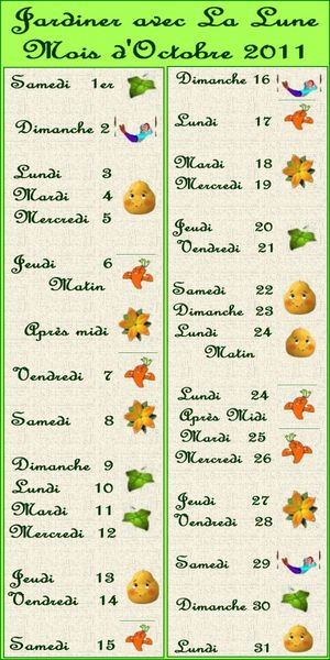 Jardiner avec la lune octobre for Jardin lune octobre 2015