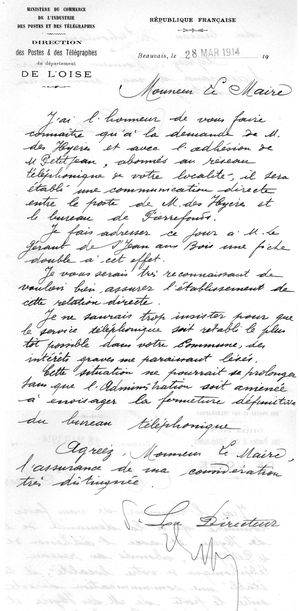 Lettre du 28 mars 1914