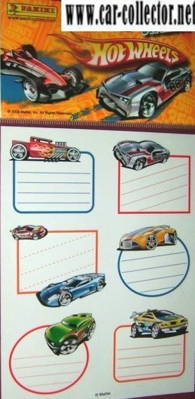 planche stickers hot wheels panini france etiquettes hot wh