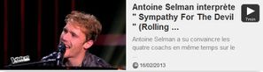 Antoine Selman interprète Sympathy For The Devil (Rolling