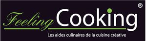 Logo feeling cooking fond noir
