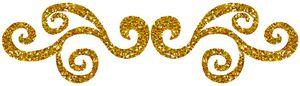volutes dorées