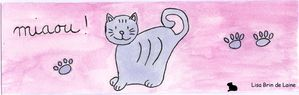 marque-page chat gris