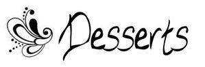 étiquette desserts