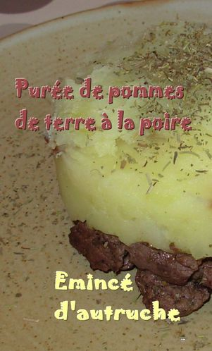 Parmentier d'autruche  la poire3