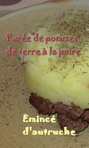 Parmentier d'autruche à la poire3
