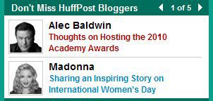 Madonna bloggs in ''The Huffington Post'' on International Women's Day