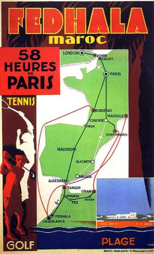 reproduction affiche ancienne marocaine