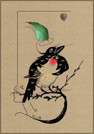 oiseau, humour et poésie, valentin,nature,femme,mère