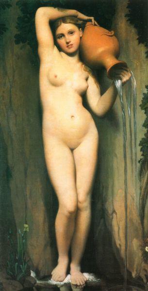 1820-1856 Ingres La Source The Source