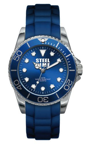 Montre-Steel-Time-bleue