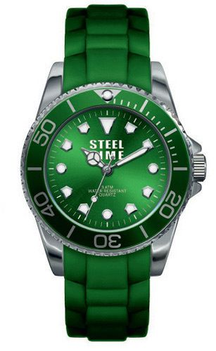 Montre-Steel-Time-verte