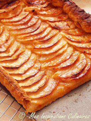 Tarte fine aux pommes la p te feuillet e le blog cuisine de samar - Dessin de tarte aux pommes ...
