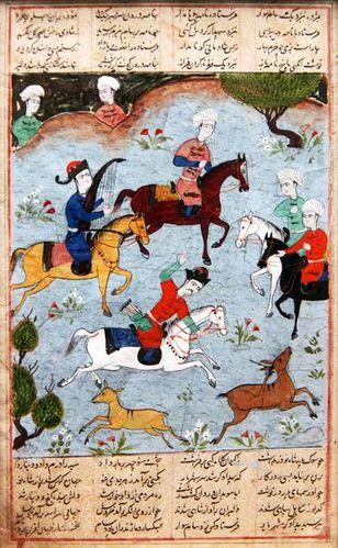 761f2 Miniature du Livre des Rois (Iran, 17e s.)
