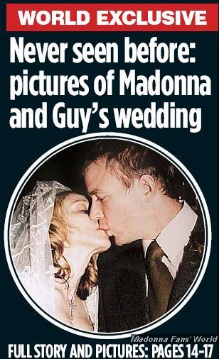 Never seen before photos of Madonna and Guy Ritchie's wedding!