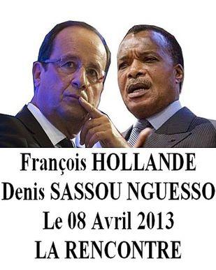 Hollande - Denis Sassou Nguesso
