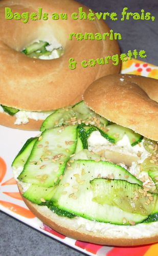 Bagels chèvre, romarin, courgette2