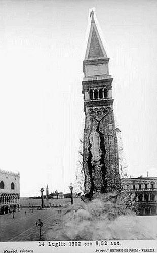 campanile venise effondrement 1902