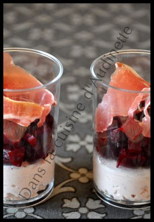 verrine mousse jambon