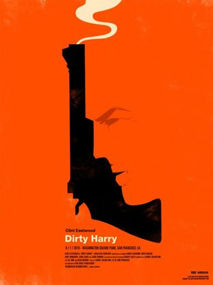 L'inspecteur Harry by Olly Moss