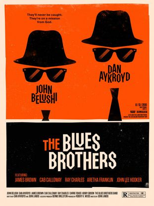 Les Blues Brothers by Olly Moss