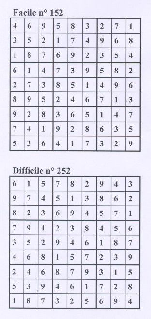 sudoku solution semaine52