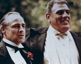 Le Parrain - Marlon Brando et Lenny Montana