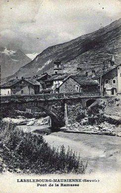 Vue de Lanslebourg vers 1930.