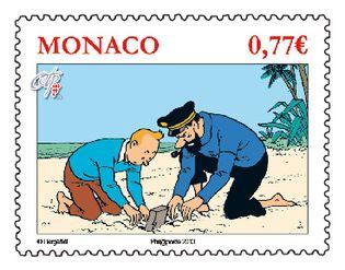 Timbre Tintin Monaco