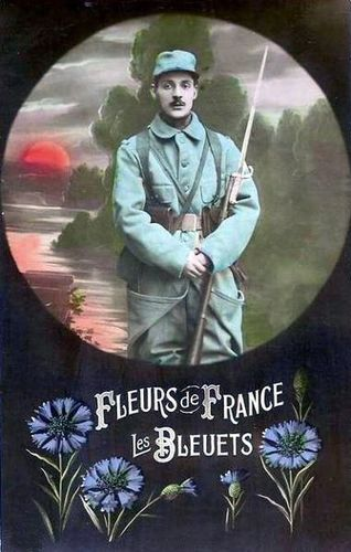 CPA Bleuet de France 1914-1918
