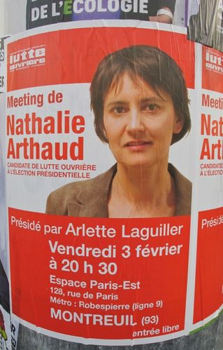 affiche prsidentielles 2012 Arthaud 3