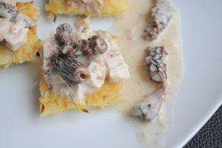 poulet morilles