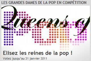 Vote for Madonna as the Queen of Pop at German/French TV channel ARTE