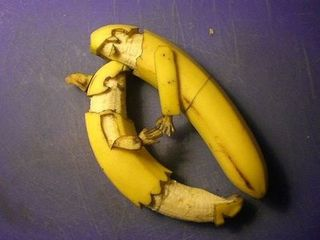 food art - dessert - sexe bananes