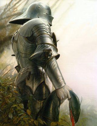 john howe knights and dragons lancelot